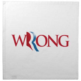 Romney es incorrecto - .png servilletas