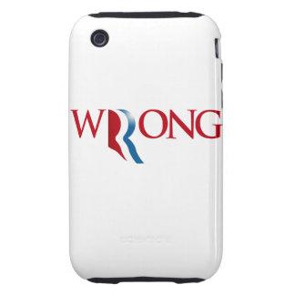 Romney es incorrecto tough iPhone 3 cobertura