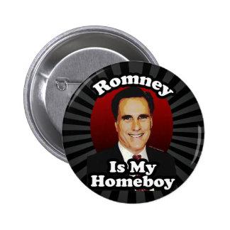 Romney es mi Homeboy, diseño político divertido Pin Redondo De 2 Pulgadas