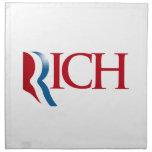Romney es Rich.png Servilletas Imprimidas