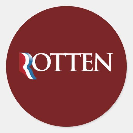 Romney es Rotten.png Pegatina Redonda