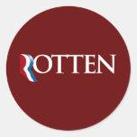 Romney es Rotten.png Pegatinas Redondas