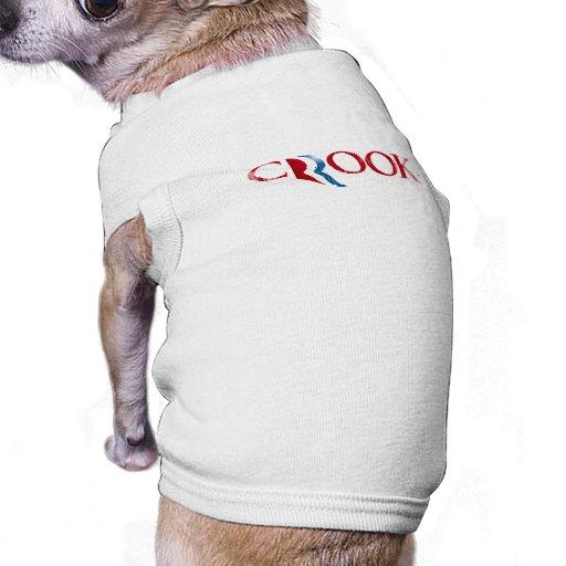 Romney es un Crook.png Camisa De Perro