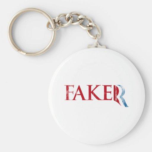 Romney es un Faker Faded.png Llavero Redondo Tipo Pin