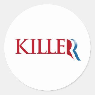 Romney es un Killer.png Pegatina Redonda