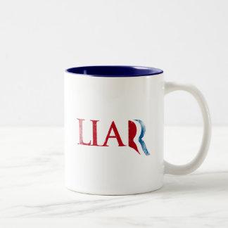 Romney es un Liar.png Taza De Café
