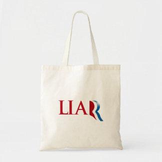 Romney es un mentiroso bolsas de mano