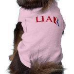 Romney es un mentiroso camisa de mascota