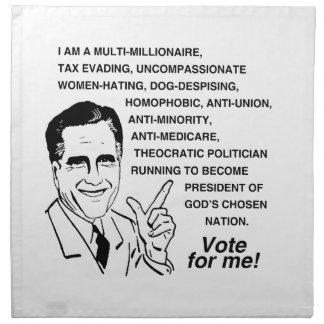 Romney es un multi-millionaire.png servilleta de papel