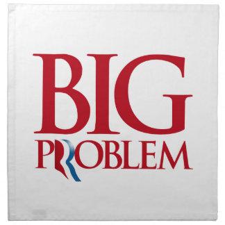 Romney es un Problem.png grande Servilletas Imprimidas