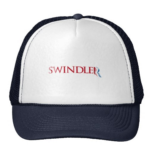 Romney es un Swindler.png Gorras De Camionero