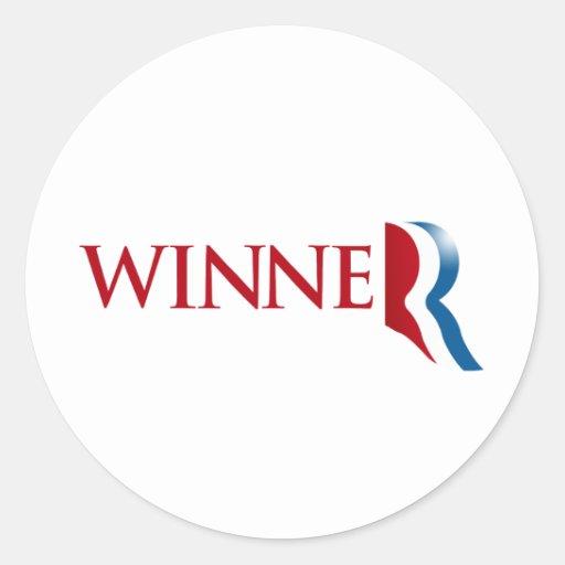ROMNEY ES un WINNER.png Pegatina Redonda