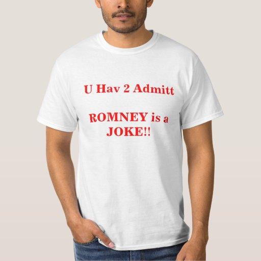 Romney es una camiseta del chiste playera