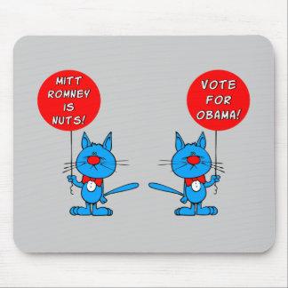 Romney es voto nuts para Obama Alfombrillas De Ratones