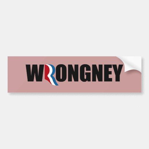 ROMNEY ES WRONGNEY.png Pegatina Para Auto