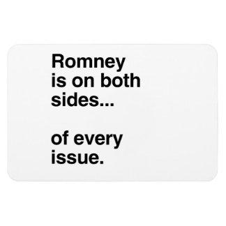 Romney está a ambos lados de cada issue.png imán rectangular