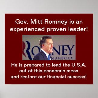 Romney experimentó el poster del líder