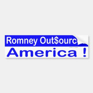 Romney externalizó América Pegatina Para Auto