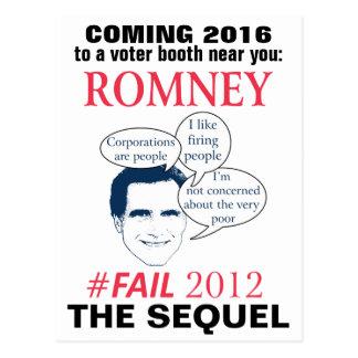 Romney #FAIL 2016 Postcard