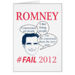 Romney Fail Greeting Card