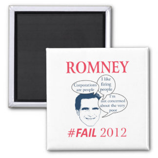 Romney Fail 2 Inch Square Magnet