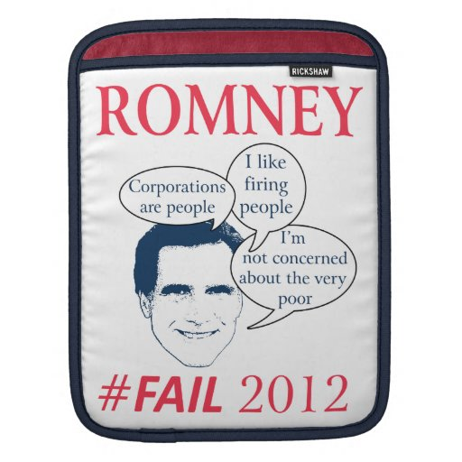 Romney Fail Sleeve For iPads