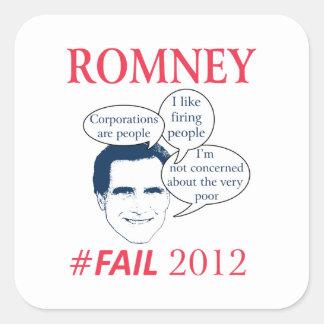 Romney Fail Square Sticker
