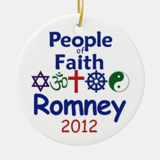 ROMNEY FAITH CERAMIC ORNAMENT