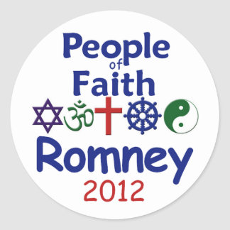 ROMNEY FAITH CLASSIC ROUND STICKER
