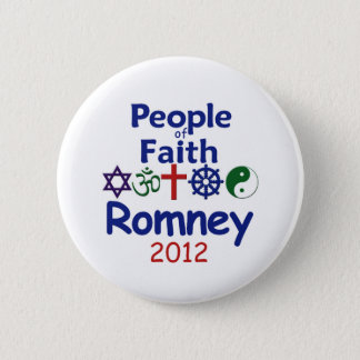ROMNEY FAITH PINBACK BUTTON