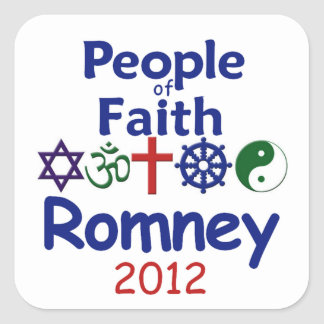 ROMNEY FAITH SQUARE STICKER