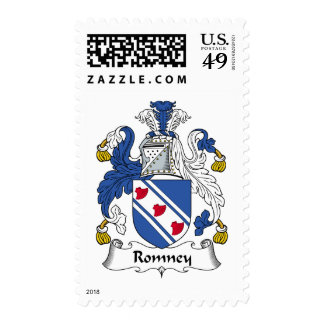 Romney Family Crest Postage Stamps