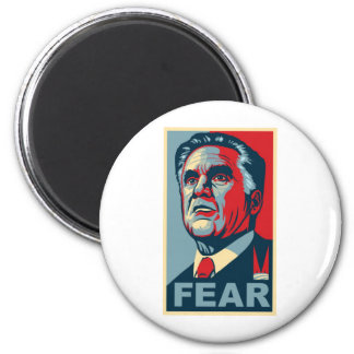 Romney - FEAR 2 Inch Round Magnet