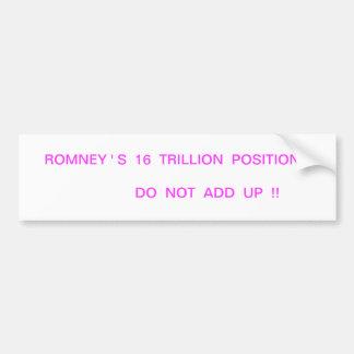 Romney Flip Flop Bumper Sticker #1 Car Bumper Sticker