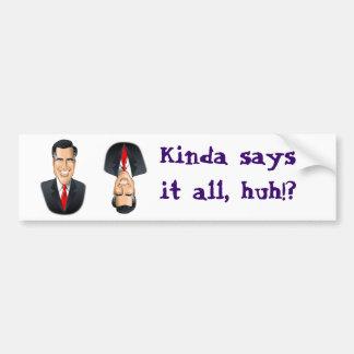 Romney flip-flopper bumper sticker car bumper sticker