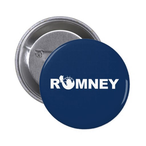 Romney for Liberty Campaign Button -Blue