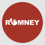 Romney for Liberty Round Sticker -Red