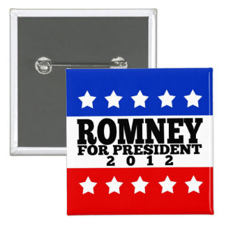 Romney for President 2012 2 Inch Square Button