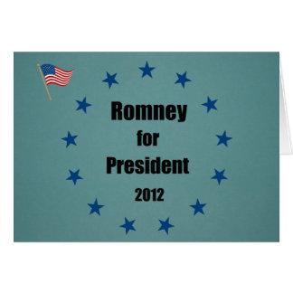 Romney for President - 2012 Card