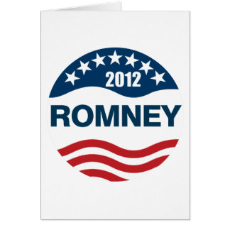 Romney for president 2012 card