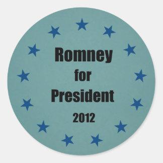 Romney for President - 2012 Classic Round Sticker