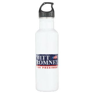 ROMNEY FOR PRESIDENT (Banner) 24oz Water Bottle