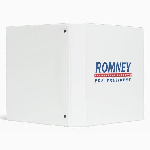 ROMNEY FOR PRESIDENT (Blue) Binder
