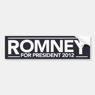 Romney For President Bumper Sticker (Black) Car Bumper Sticker