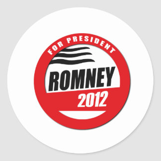 ROMNEY FOR PRESIDENT BUTTON STICKERS