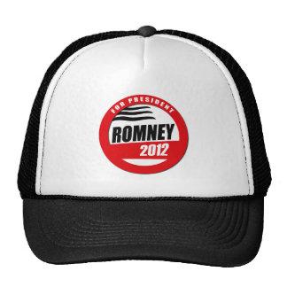 ROMNEY FOR PRESIDENT BUTTON TRUCKER HATS