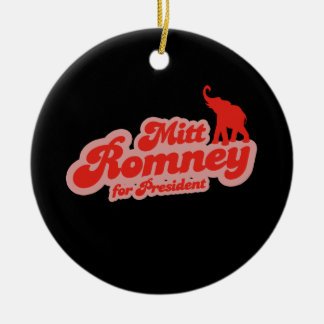 ROMNEY FOR PRESIDENT GOP Double-Sided CERAMIC ROUND CHRISTMAS ORNAMENT