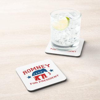 ROMNEY FOR PRESIDENT GOP MASCOT.png Drink Coaster