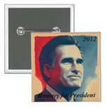 Romney for President Pinback Buttons