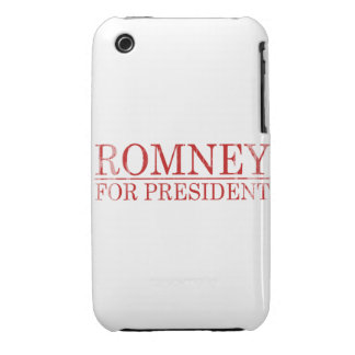 ROMNEY FOR PRESIDENT (Red) iPhone 3 Cover